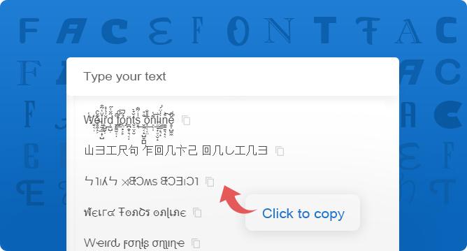 Weird fonts online