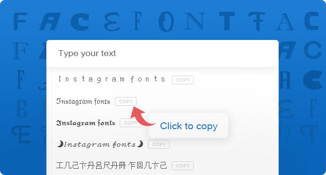 Instagram-fonts-generator